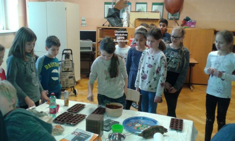 Chocofalla Workshop in der Schule